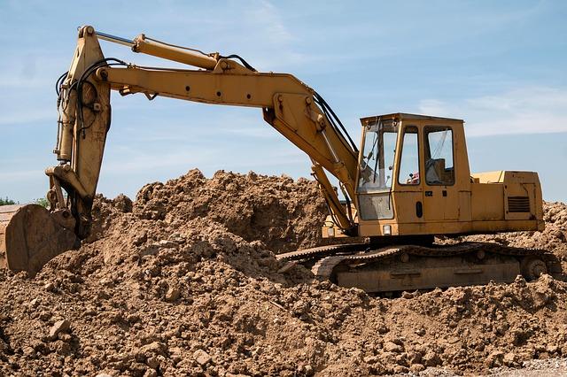 excavator doing construction